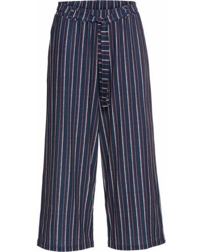 Свободные брюки с карманами в полоску Bonprix