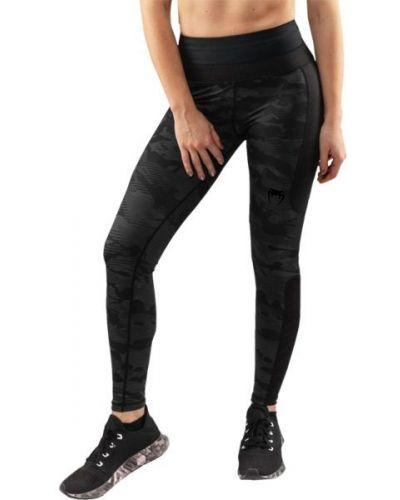 Черные брюки на резинке свободного кроя Venum