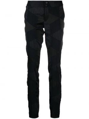 Czarne spodnie z nylonu Issey Miyake