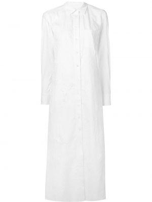 Белое платье на пуговицах с воротником с карманами Sies Marjan