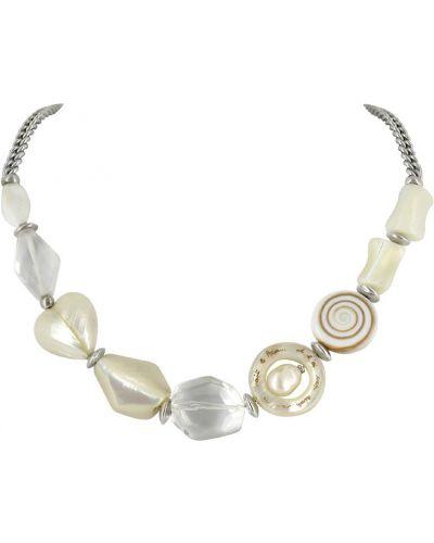Ожерелье серебряный черное Nature Bijoux