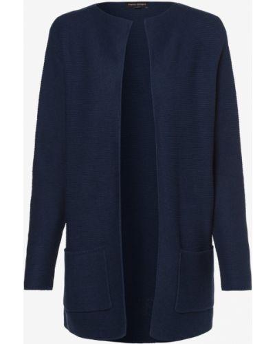 Niebieski garnitur elegancki dzianinowy Franco Callegari