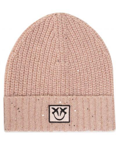 Różowy czapka Pinko