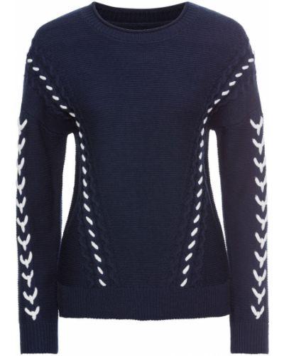 Темно-синий вязаный свитер Bonprix