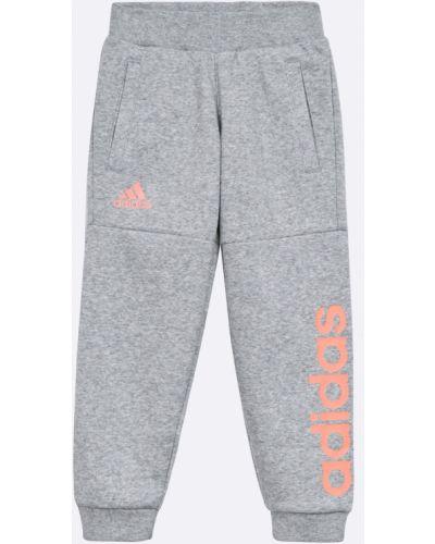 Брюки с карманами хлопковые Adidas Performance