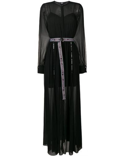 Вечернее платье с V-образным вырезом с поясом Karl Lagerfeld