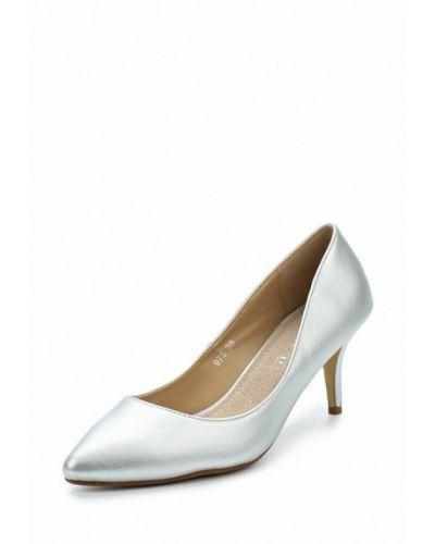 Туфли-лодочки серебряного цвета Bellewomen