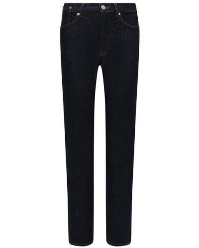 Хлопковые синие джинсы Dries Van Noten