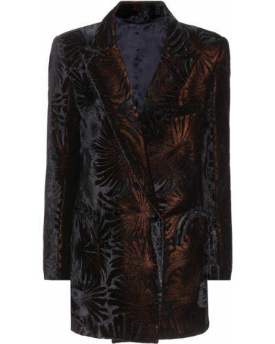 Пиджак черный бархатный Blazé Milano