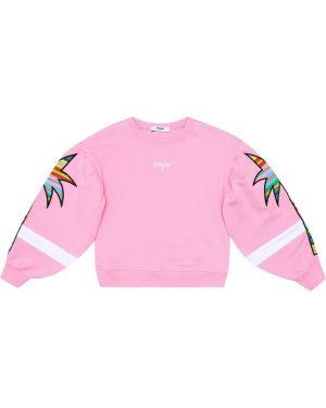 Bluza z kapturem z łatami Msgm Kids