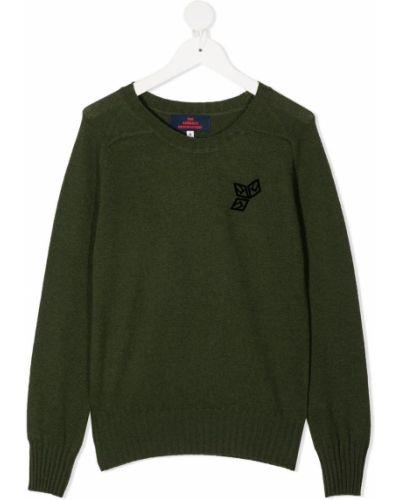 Zielony z kaszmiru długi sweter z długimi rękawami The Animals Observatory