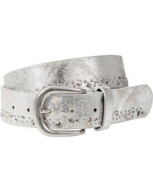 Ремень с заклепками серебряный Bonprix