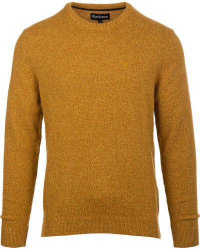 Sweter - żółty Barbour
