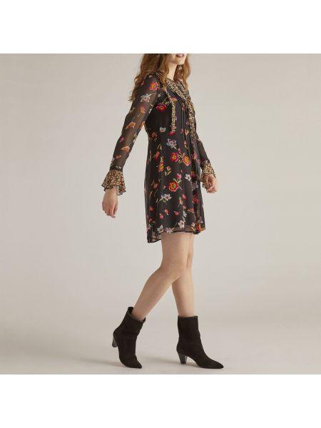 Платье миди с цветочным принтом с длинными рукавами Rene Derhy
