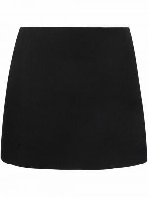 Шерстяная юбка мини - черная Valentino