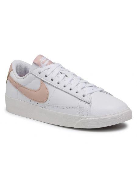 Marynarka skórzana - biała Nike