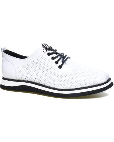 Кожаные туфли - белые La Pinta