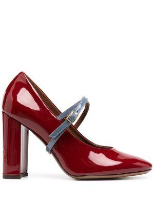 Кожаные красные туфли-лодочки на каблуке L'autre Chose