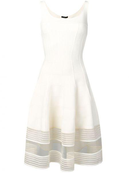 Платье миди на молнии с вырезом Alexander Mcqueen