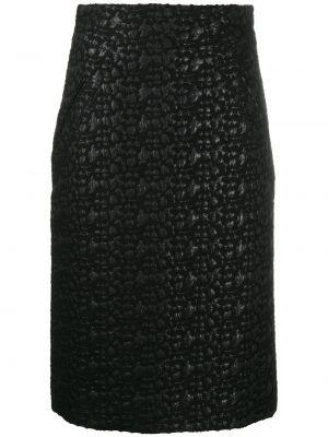 Черная акриловая прямая с завышенной талией юбка Moschino Pre-owned