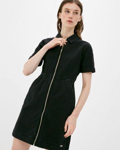 Черное джинсовое платье Q/s Designed By