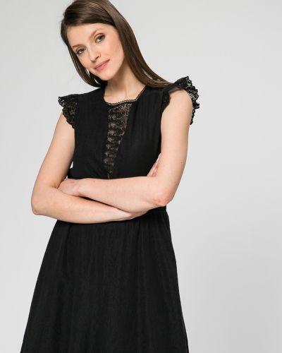Платье мини однотонное с декольте Answear
