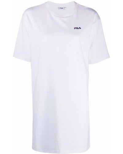 Белое платье с короткими рукавами Fila