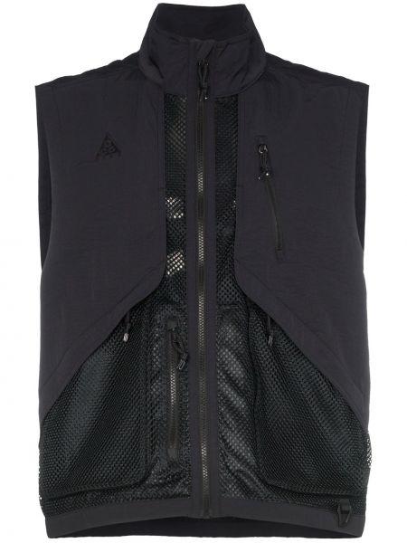 Czarna sport kamizelka bez rękawów z nylonu Nike