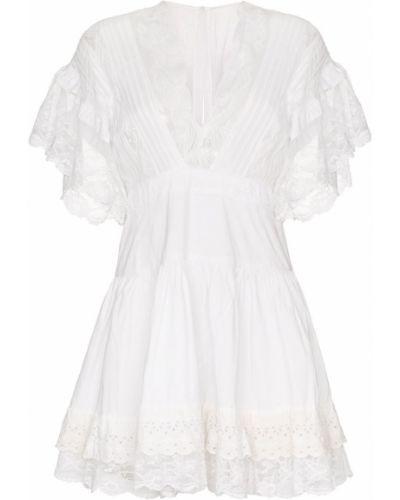 Плиссированное платье мини с вышивкой винтажное One Vintage
