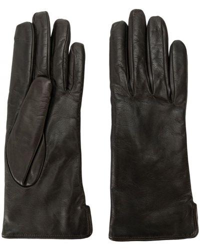 Кожаные перчатки черные Mario Portolano