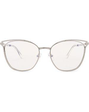 Niebieskie okulary srebrne The Book Club