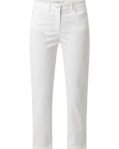 Białe jeansy bawełniane Zerres