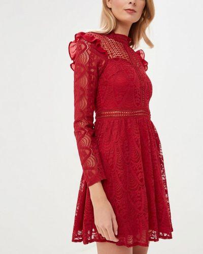 Вечернее платье бордовый красный Danity