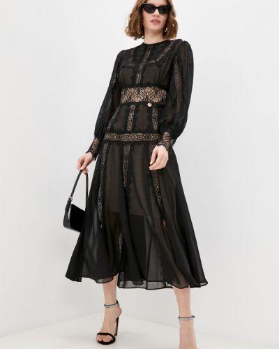 Прямое черное платье Rich & Naked