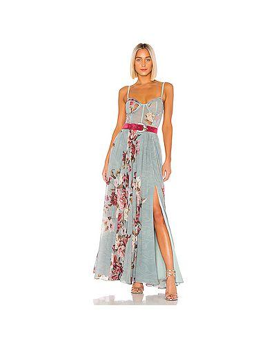 Платье макси с поясом на молнии Patbo