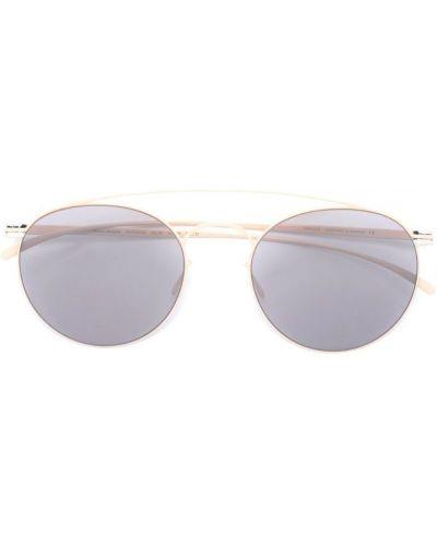 Бежевые солнцезащитные очки Mykita