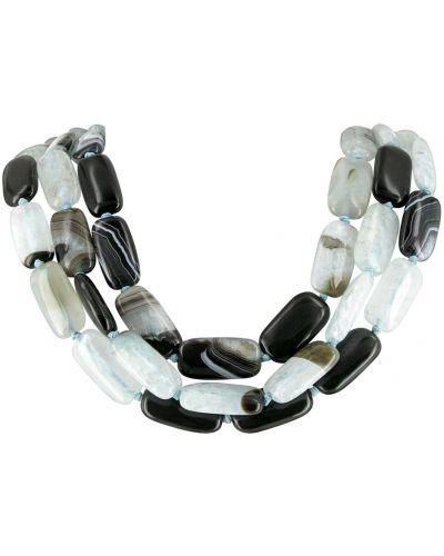 Ожерелье черное серое Nature Bijoux