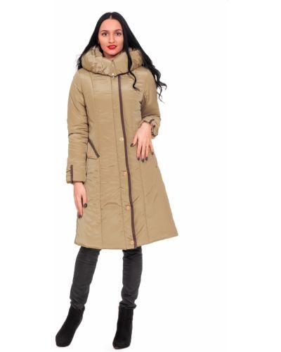 Пальто с капюшоном из холлофайбера с поясом с карманами Lacywear