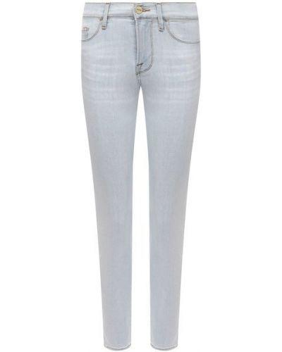 Джинсовые зауженные джинсы - голубые Frame Denim