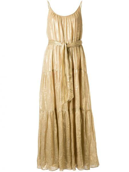 Платье макси с поясом расклешенное Ginger & Smart