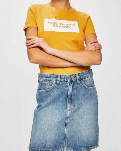 Юбка мини джинсовая на пуговицах Wrangler