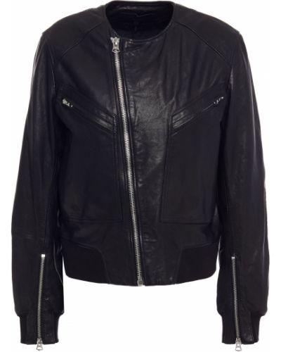 Черная кожаная куртка байкерская из натуральной кожи Rag & Bone