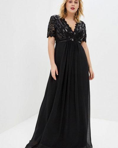 Вечернее платье черное Goddiva Size Plus