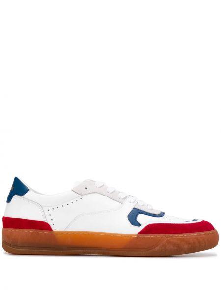 Białe sneakersy skorzane sznurowane Rov