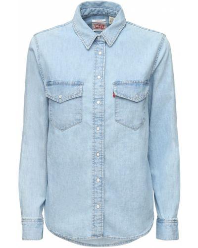 Джинсовая рубашка - синяя Levi's Red Tab