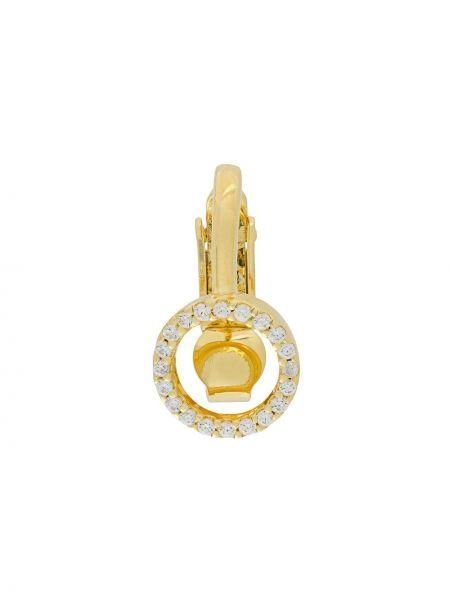 Золотистые серебряные серьги золотые Eshvi