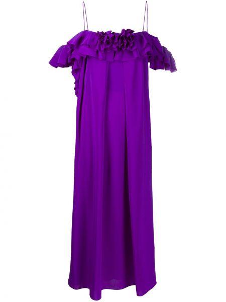 Платье миди на бретелях со вставками Victoria Beckham