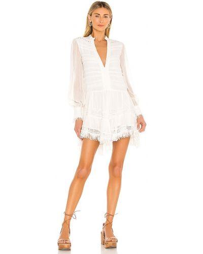 Вечернее платье с вышивкой - белое Rococo Sand