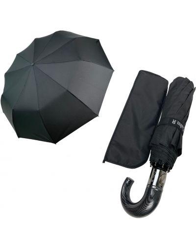Костюмный серебряный складной зонт Rozetka