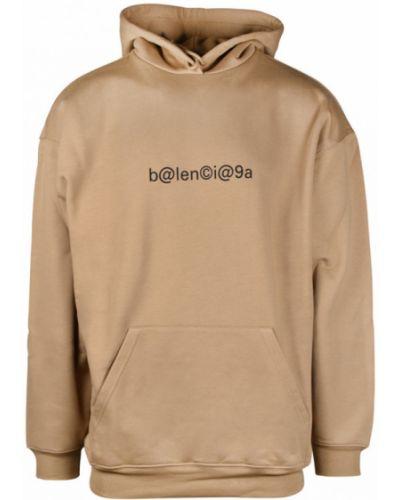 Prążkowana bluza z kapturem Balenciaga